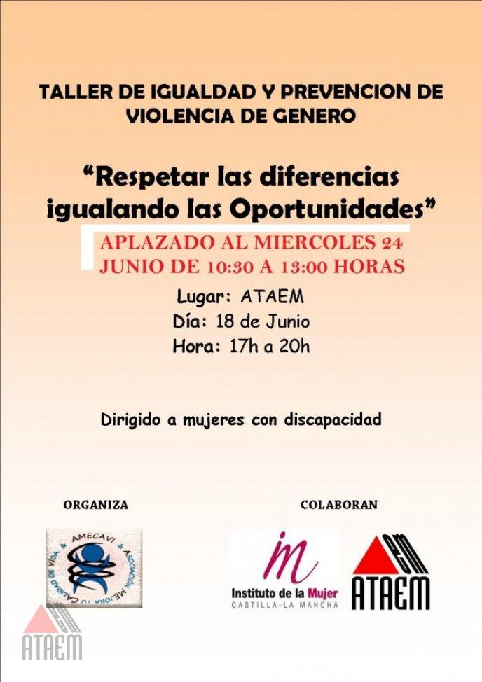 """APLAZADO TALLER:  """"Respetar las diferencias"""""""