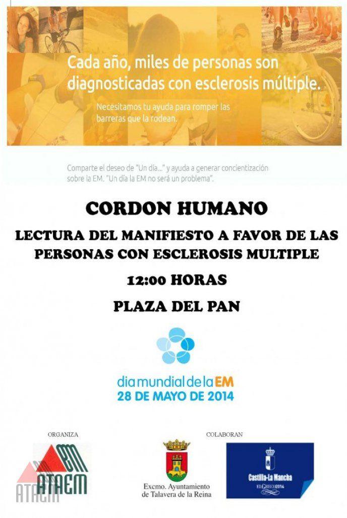 CORDON HUMANO CON MOTIVO DEL DIA MUNDIAL DE LA ESCLEROSIS MULTIPLE