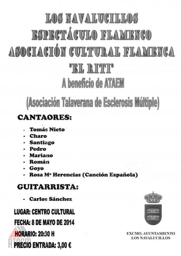 Espectaculo Flamenco en Los Navalucillos a beneficio de ATAEM