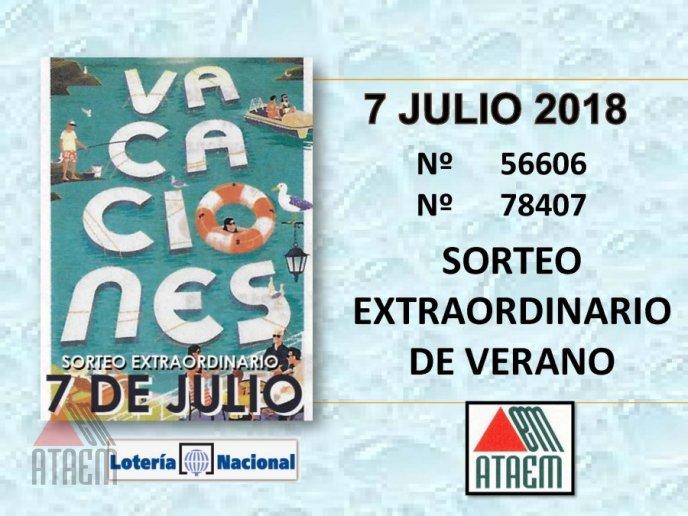 SORTEO EXTRAORDINARIO DE VACACIONES 7 DE JULIO 2018