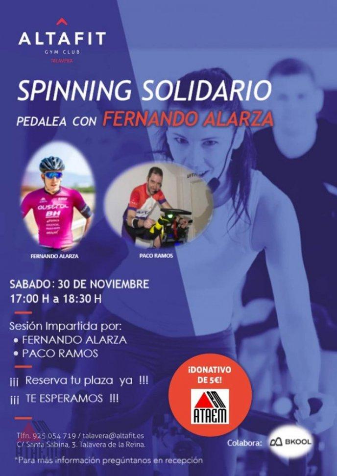 SPINNING SOLIDARIO Pedalea con Fernando Alarza