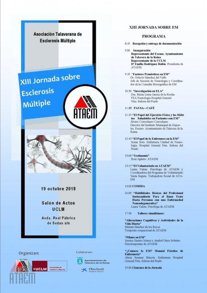 XIII JORNADA SOBRE ESCLEROSIS MULTIPLE